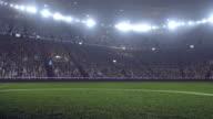 Dramatic soccer stadium full of spectators video