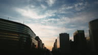 Dramatic sunset over Fukuoka city, Japan video