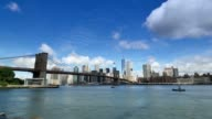 Dramatic Timelapse View of Lower Manhattan and Brooklyn Bridge video