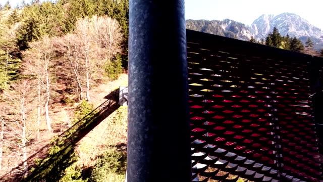 Drawbridge of Overhead cable car video