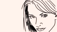 Drawing a portrait video