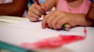 drawing kid - Stock Video video
