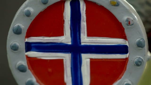 A drawing of a Norway flag video
