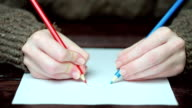 Drawing with both hands video