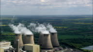 Drax Power Station  - Aerial View - England,  North Yorkshire,  Selby District,  United Kingdom video