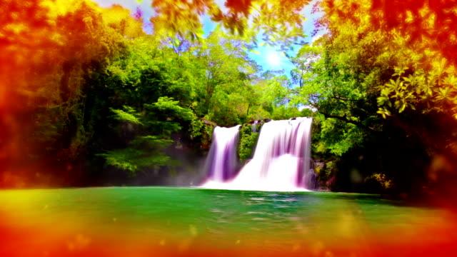 Dreamy waterfall. video