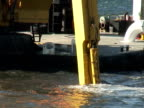 Dredging Sediment Mud From Under Water, Close Up video