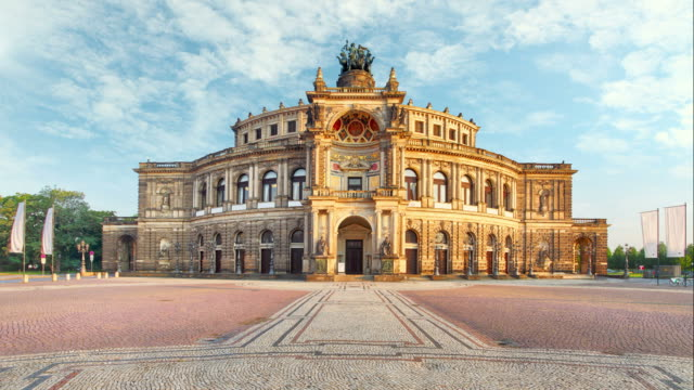 Dresden - Semperoper, Germany - Time lapse video