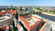 Dresden skyline, camera pan video