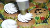 Dressing Cream on Cupcake video