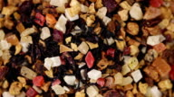 Dried fruits mix. Food background video