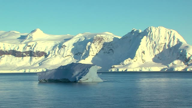 drifting iceberg in antarctica video