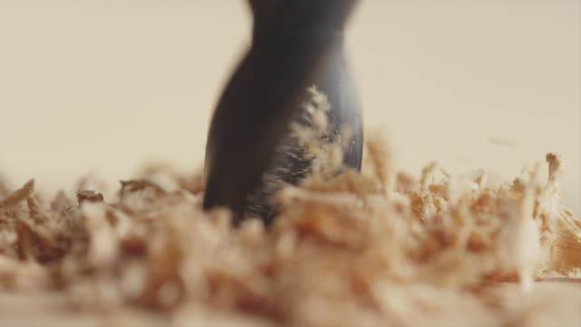 Drilling a Hole into Wood video