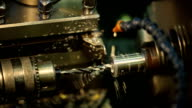 Drilling metal shiny parts on a horizontal milling machine with coolant video