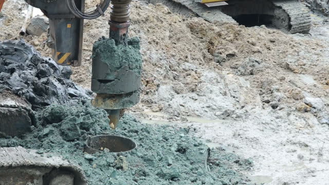 Drilling rigs for footing building structures video