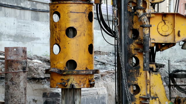 Drilling wells for bored piles video