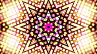 Drimlike psychedelic kaleidoscope  loopable video background footage in neon colors video