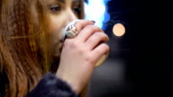 Drinking coffee to go video