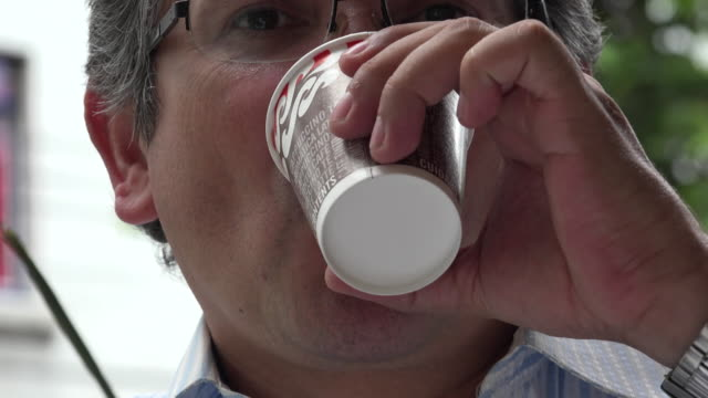 Drinking Cup of Coffee video