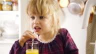 Drinking Homemade Orange Juice video