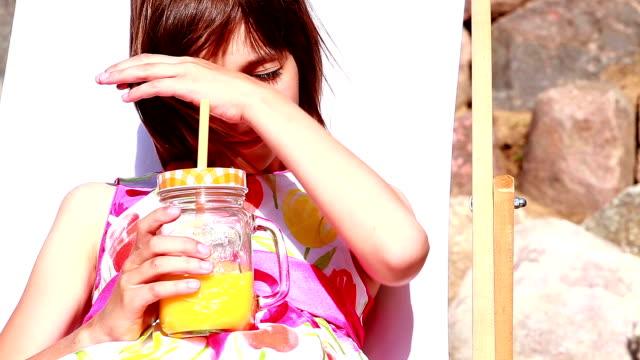 drinking orange juice video