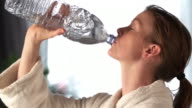 Drinking water slow motion   HE video