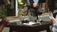 Drinking wine in center of Rome video