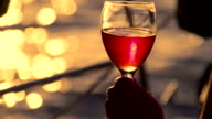 CU Drinking Wine While Sailing At Sunset video