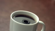 Drip of coffee, slow motion video