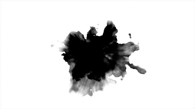 Dripping Ink on white background video