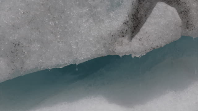 Dripping Melting Water from Glacial Ice video