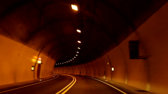 Drive a car through tunnels in bolzano, Italy video