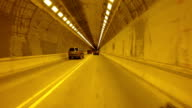 Drive along the tunnel video