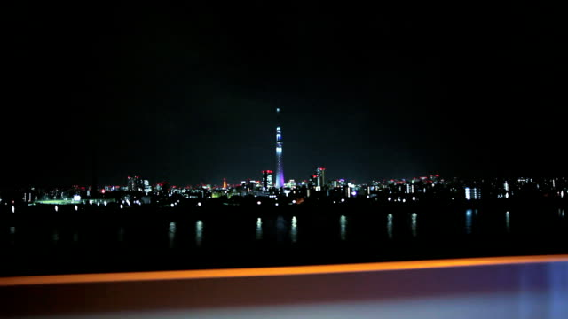 Drive by the river in Tokyo video