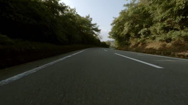 Drive on a mountain road with motorcycle -4K- video