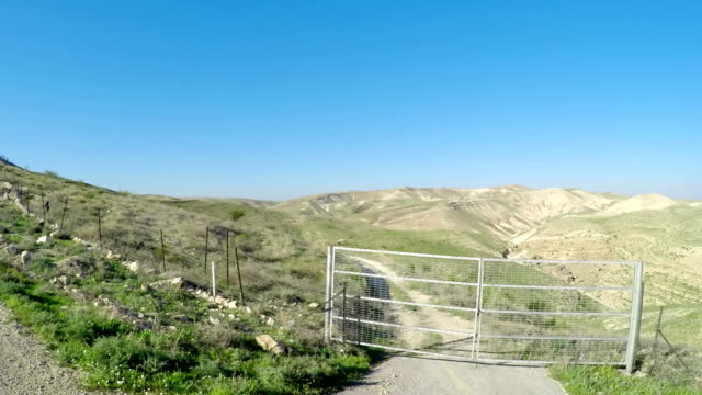 Drive pov on Meandering Road in Sand Hills of Judean Mountains, Israel video