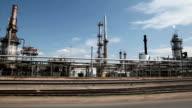 Drive through oil refinery video