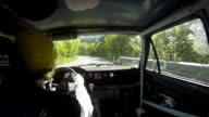 HD: Driver Rallying Along Rally Course video