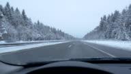 Driver's POV on a freeway video