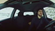 Driving a car: driver inside view video