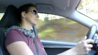 Driving a Car on a Beautiful Autumn Day video