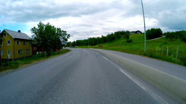 Driving a Car on a Road in Norway video