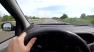 Driving a car on highway video