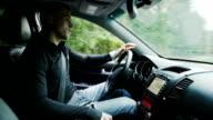 Driving a Car through Forest video