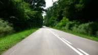 Driving a car through forrest video
