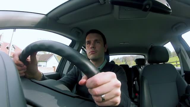 Driving a car video
