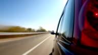 Driving a car. video
