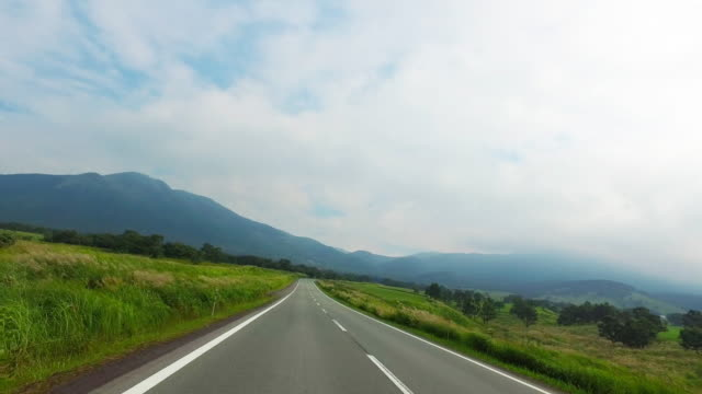 Driving a country road in Aso video