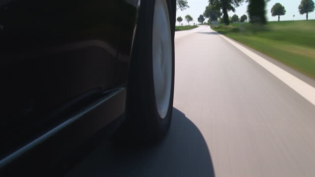 driving along a countryroad - timelapse video