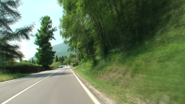 Driving along Italian country roads video